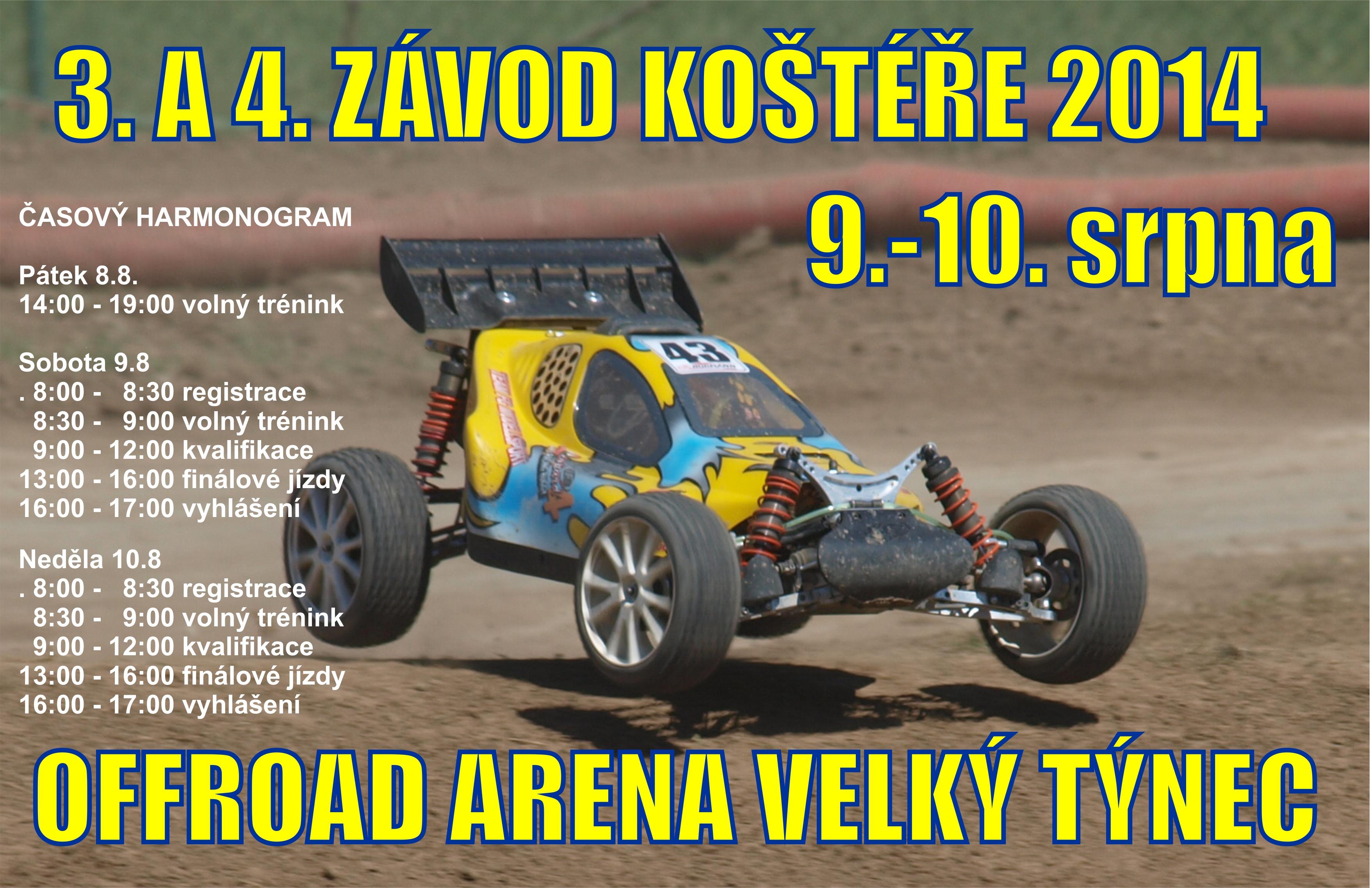 Pozvánka na 3. a 4. volný závod Koštéř – Olomouc, 9 a 10.8. 2014