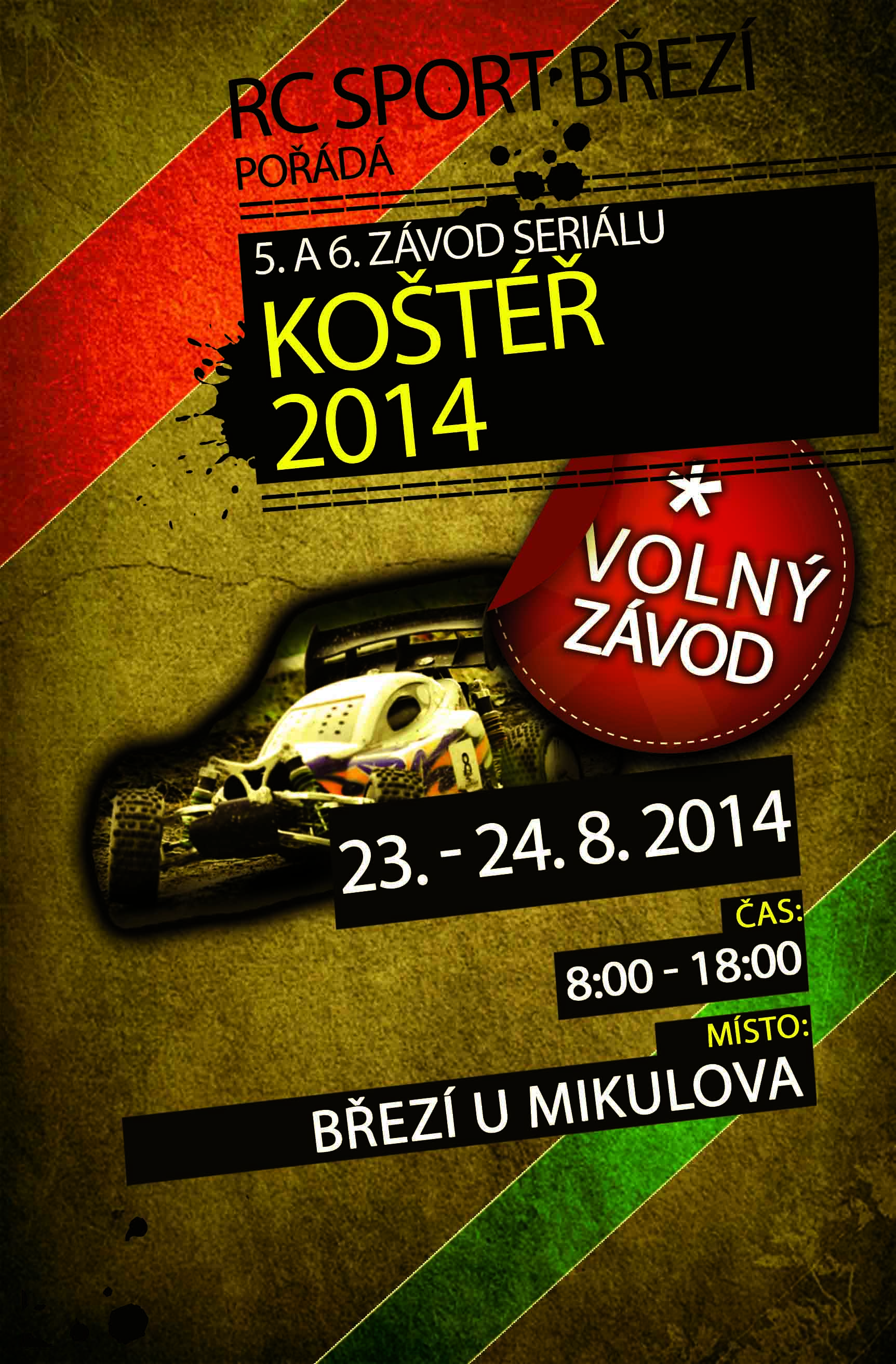 Pozvánka na 5. a 6. volný závod Koštéř – Březí, 2014
